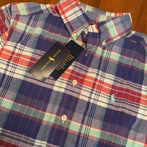 Ralph Lauren boys Medium (10-12) button down bnwt